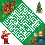 Christmas maze Stock Images