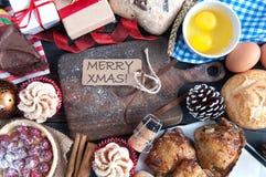 Christmas meal stock photo