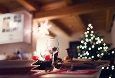 Christmas meal on a table Royalty Free Stock Photos
