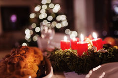 Christmas meal on a table Royalty Free Stock Photography