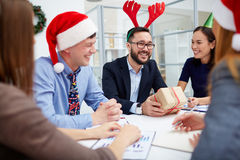 Christmas meeting Stock Images