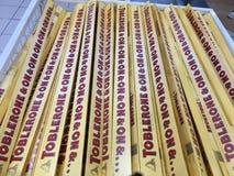 Chocolates in departmental store stock photos