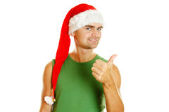 Christmas men Royalty Free Stock Photo