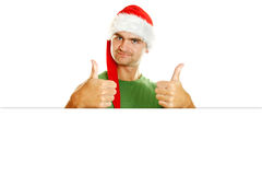 Christmas men Stock Photography