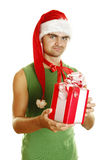 Christmas men Stock Image