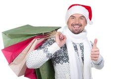 Christmas men Royalty Free Stock Photo