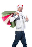Christmas men Royalty Free Stock Image