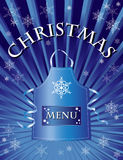 Christmas menu. A menu template for a Christmas menu Royalty Free Stock Photos