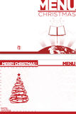 Christmas Menu stock images