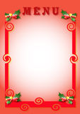 Christmas menu. Image from use in menu compositions from restaurants Royalty Free Stock Images