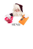 Christmas menu Stock Photography