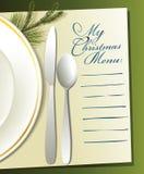 Christmas menu Royalty Free Stock Photos