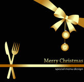 Christmas menu Royalty Free Stock Photography