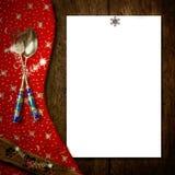 Christmas menu blank paper Stock Photos