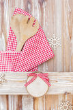 Christmas menu board and decoration Royalty Free Stock Photography