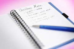 Christmas Menu Card Royalty Free Stock Photo