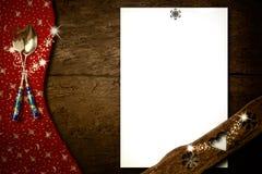 Christmas menu card.Copyspace Stock Photo