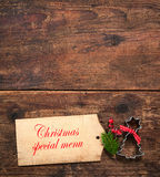 Christmas menu Royalty Free Stock Photo