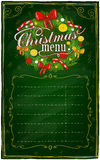 Christmas menu chalkboard. Christmas menu chalkboard with place for text. Eps10 Stock Photo