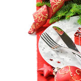 Christmas menu concept isolated over white Stock Images