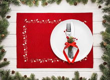Christmas menu concept Stock Images