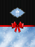 Christmas menu design Stock Image