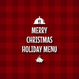 Christmas menu design Royalty Free Stock Photography