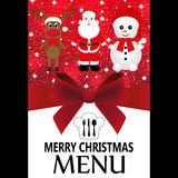 Christmas menu Stock Image
