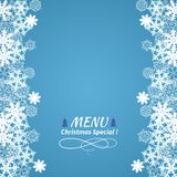 Christmas menu Royalty Free Stock Image