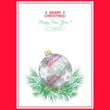 Christmas menu Stock Photography