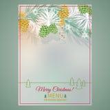 Christmas menu Stock Photo