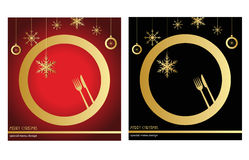 Christmas menu Stock Images