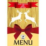 Christmas menu Stock Photos