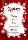 Christmas menu design background Stock Image