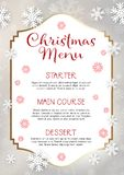 Christmas menu design background Royalty Free Stock Photos
