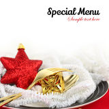 Christmas menu Royalty Free Stock Images
