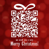 Christmas 2013 16. Merry Christmas card and Happy New Year card, red bokeh effect Royalty Free Stock Photography