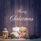 Christmas - Merry Christmas macik- embracing subtitles Stock Photos