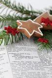 Christmas message Royalty Free Stock Image