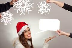 Christmas message Stock Photos