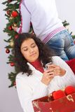 Christmas message Stock Images