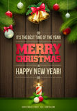 Christmas Message Board Royalty Free Stock Image