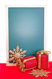 Christmas message board vertical Royalty Free Stock Photos