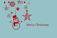 Christmas Message Design Royalty Free Stock Image
