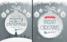 Christmas Message Design. Easy editable Christmas message designs Royalty Free Stock Photos