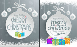Christmas Message Design. Easy editable Christmas message designs Royalty Free Stock Photo