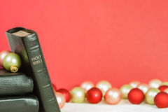 Christmas Message From Holy Bible Stock Images