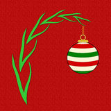Christmas Message with Ornament Royalty Free Stock Image