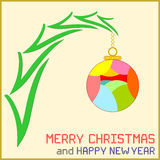 Christmas Message with Ornament Royalty Free Stock Images