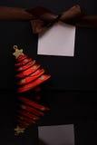 Christmas message tag Stock Photo